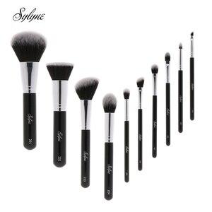 Image 1 - Sylyne Bộ cọ trang điểm 10 chiếc chuyên nghiệp chất lượng cao trang điểm màu đen cổ điển nền cọ trang điểm Bộ dụng cụ.