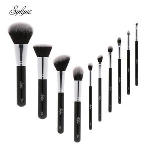 Image 1 - Sylyne makeup brush set 10pcs high quality professional makeup brushes classic black foundation make up brush kit tools.