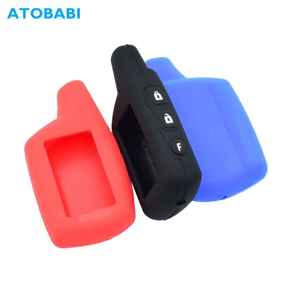 Silicone Car Key Case For Pandora DXL 3000 3100 3170 3300 3210 3500 3700 Car Alarm LCD Remote Control Protect Cover Keychain Bag