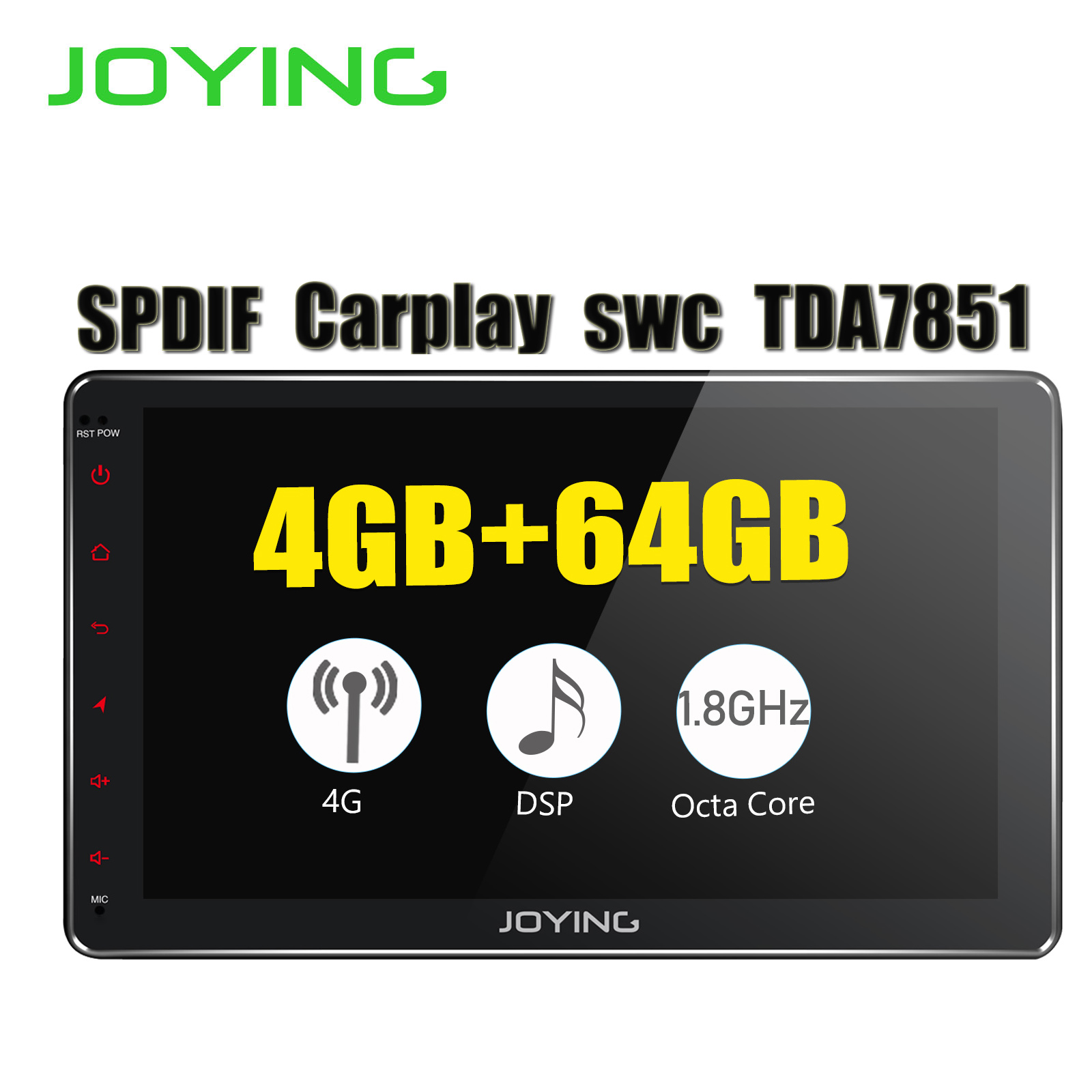 Double 2 Din 4GB+64GB Universal Head Unit <font><b>Android</b></font> 8.1 Car Stereo Built-in 4G Modem DSP For Toyota Nissan Honda <font><b>GPS</b></font> No DVD Player image