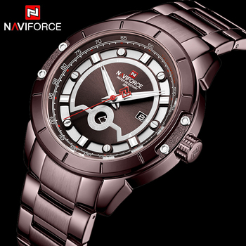 NAVIFORCE 9166 Men's Army Military Watch Male Date Quartz Clock with box