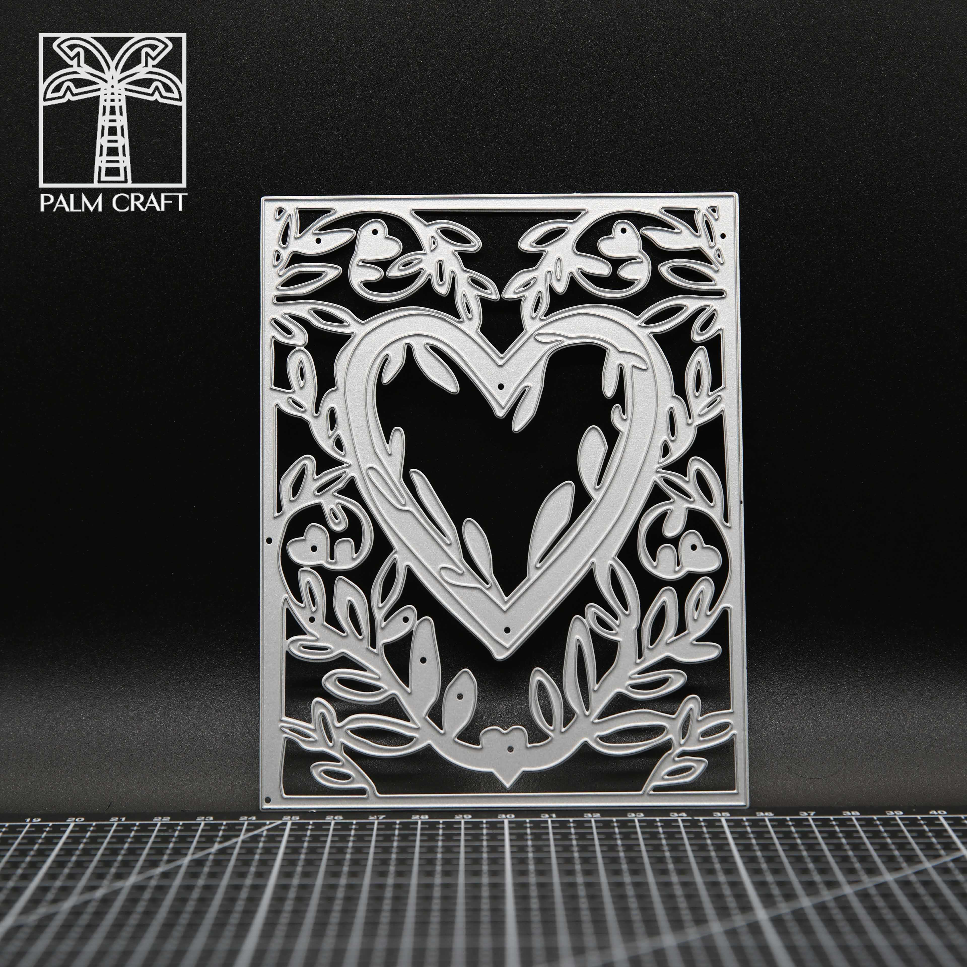 LoveHeart Corner Scrapbooking Metal Cutting Die stencil for Card Making Craft