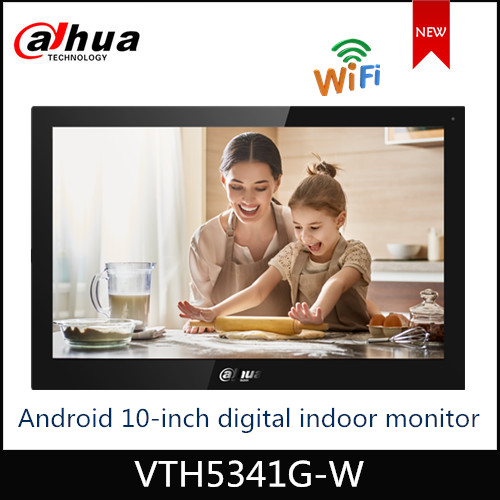 NEW Dahua WiFi Video Intercoms VTH5341G-W Android 8.1 10-inch Digital Indoor Monitor Support Micro-SD Card Surveillance Alarm