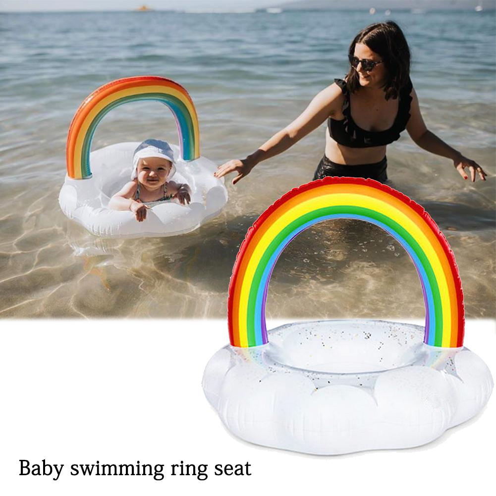 Safe Swimming Ring Children Waist Float Ring Swimming Pool Accessories Rainbow Cloud Swimming Ring Seat For Children