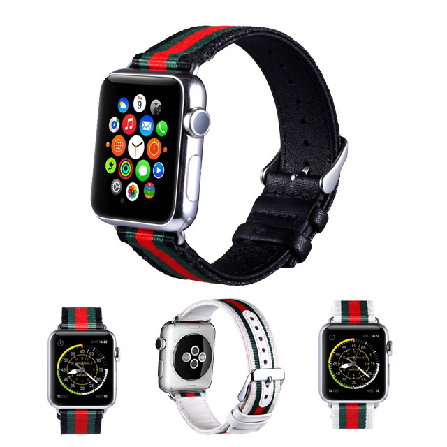 Suitable For Apple Smart Watch I Watch1/2/3/4 S First Layer Of Leather Weaving Fashion Watch Strap