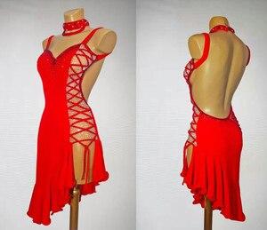 Image 1 - Đỏ La Tinh Thi Dance Váy Nữ Chuyên Nghiệp Chất Lượng Cao Samba Tiếng La Tinh Nhảy Múa Mặc LadyS Rumba Nhảy Latin Đầm