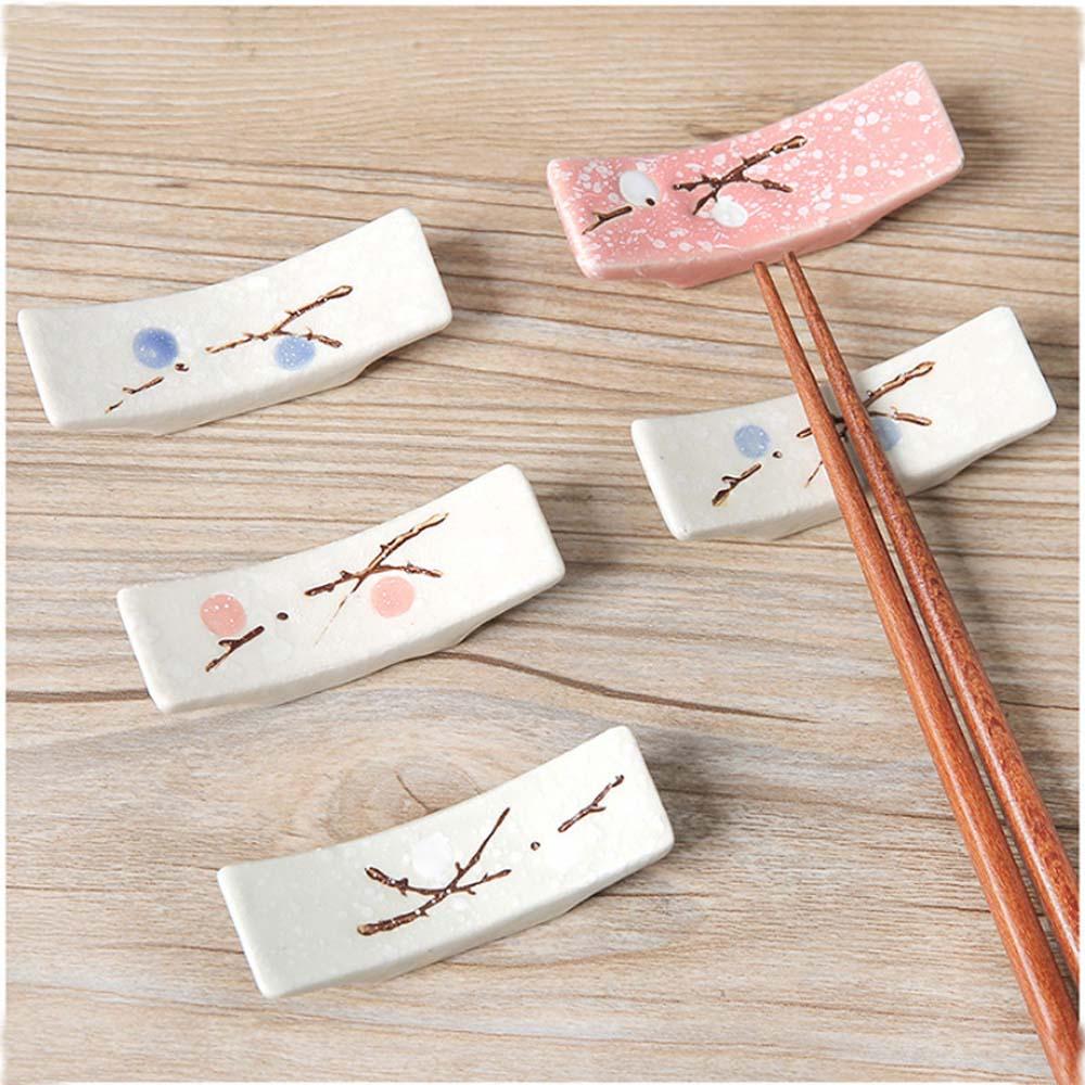 1 pcs Japanese Style Ceramic Snowflake Design Chopsticks Holder Spoon Fork Chopstick Rest Stand Kitchen Tools Tableware