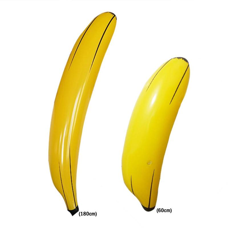 60cm/180cm Baby Inflatable PVC Banana Children Kids Pool Water Toy Night Club Party Props Kids  Water Fun Toys