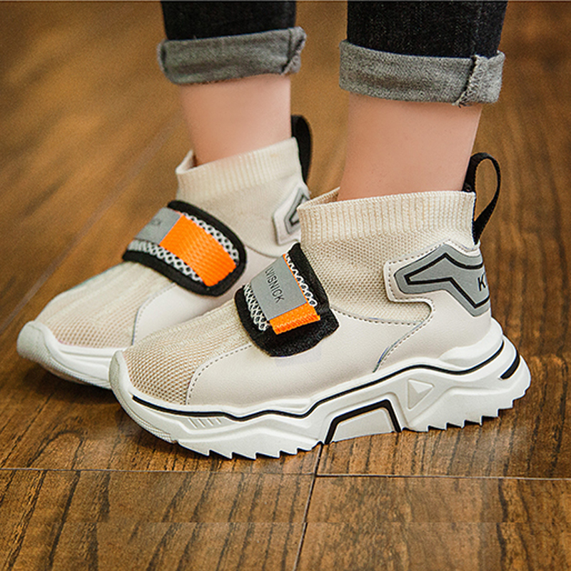 Kids Shoes Girl Boy Sneakers Children Sport Shoes Breathable Trainers Child Shoes For Girl Casual Shoes White Black School Shoes