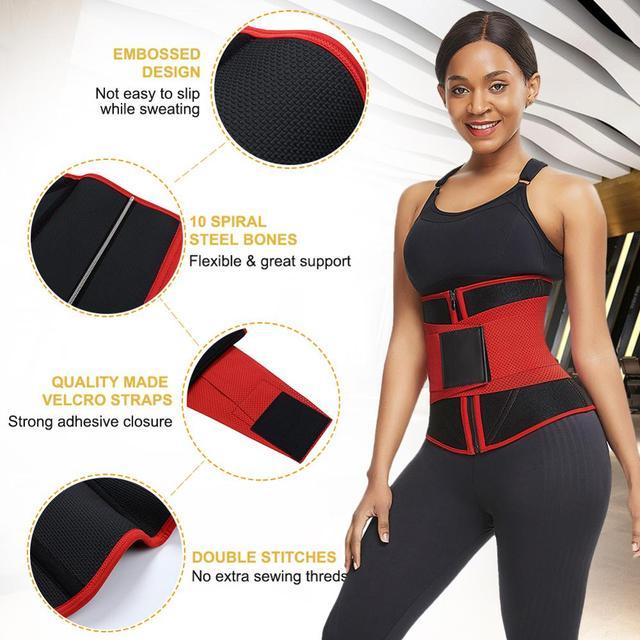 Lover-Beauty Women Waist Trainer Neoprene Belt Weight Loss Cincher Body Shaper Tummy Control Strap Slimming Sweat Fat Burning 3