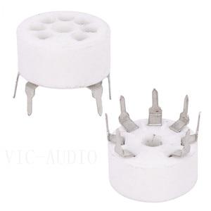 Image 2 - Tubo de cerámica PCB para coche, 5 uds., asiento de tubo electrónico de 7 pines para EC92 6J1 6J4 6J5 6Z4 6X4 6A2 6H2 1A2, amplificador de tubo de vacío DIY