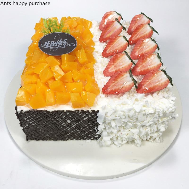 Wondrous Square Cream Cake Model Simulation Sample Fruit Birthday Cake Funny Birthday Cards Online Amentibdeldamsfinfo