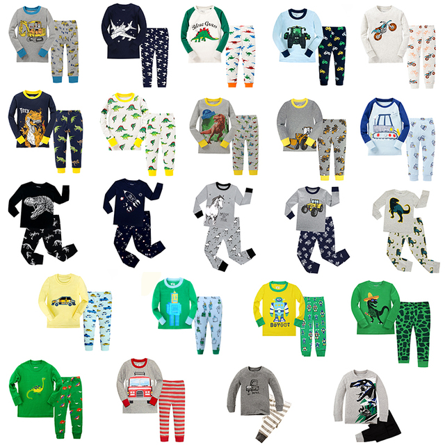 Joyond Jungen Pyjamas Sets Kinder Dinosaurier Cartoon Pyjamas Baby Kleidung Sets Pijamas Infantil Kleidung für Jungen 2 12Years