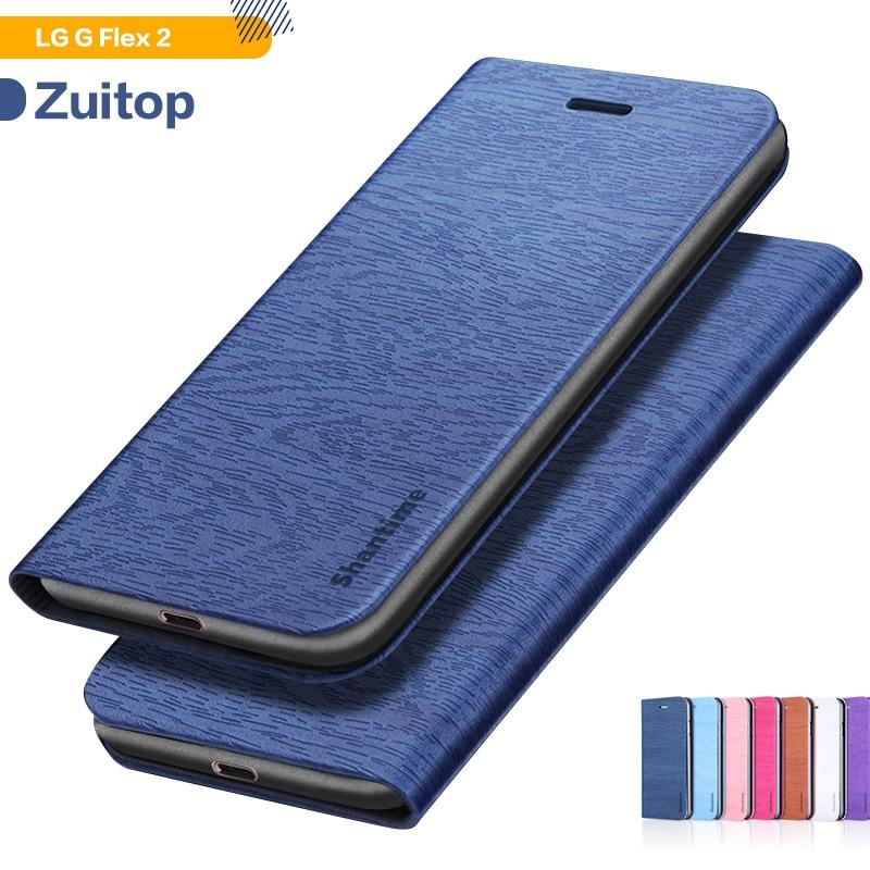 Wood grain PU Leather Phone Case For LG G Flex 2 Flip Case For LG G Flex 2 Business Wallet Case Soft Silicone Back Cover