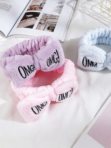 Headbands Hair-Accessories Makeup Letter Wash-Face Elasticity Women Bow Designer Cute Girls