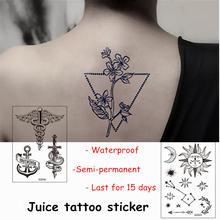 Новый сок татуировки Стикеры полу перманентных Водонепроницаемый