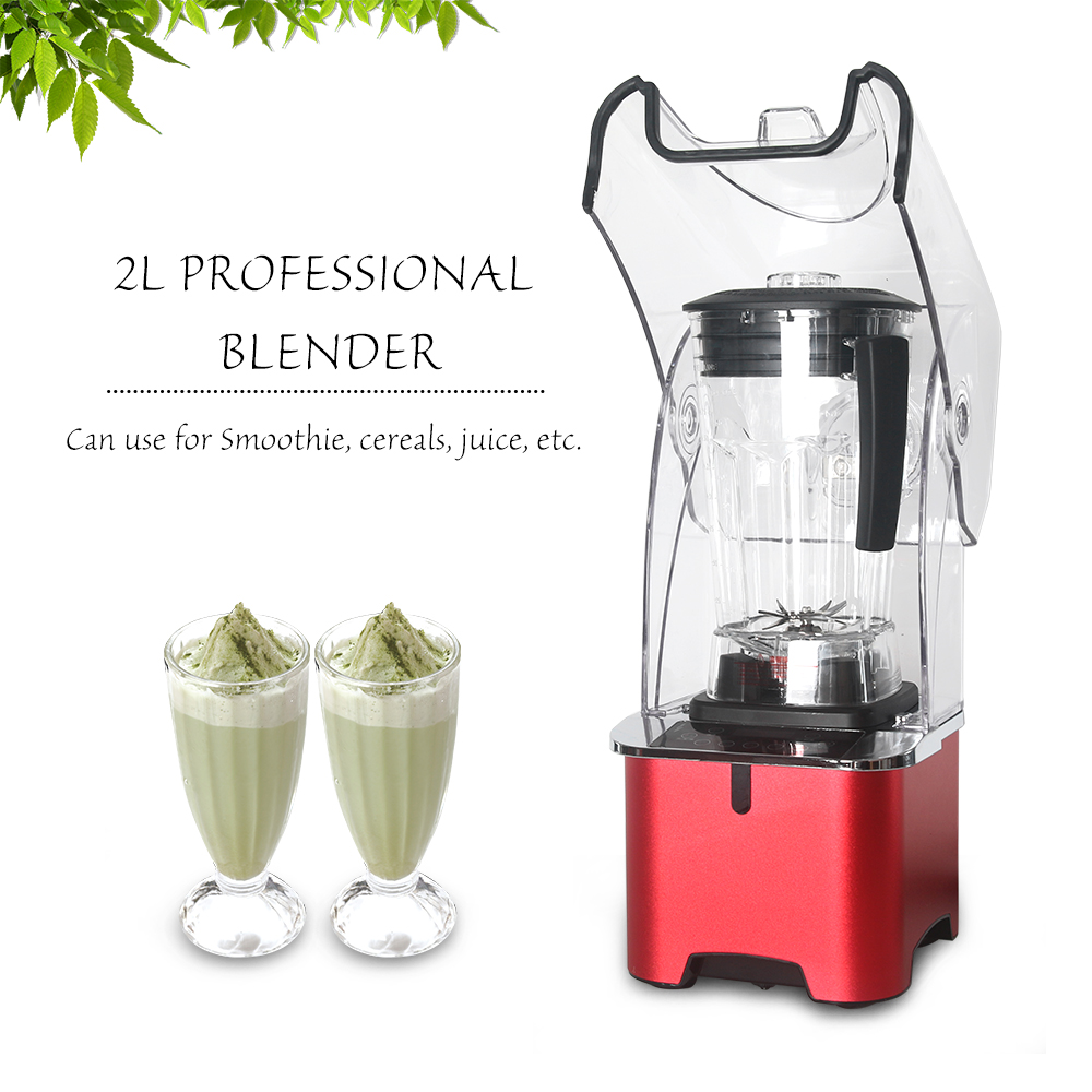 Power Professional Blender Ice Beverage Food Grain Mixer Stirring Milkshake BAP free Juice 2L Multi range Adjustment Agitator in Funnels from Home Garden