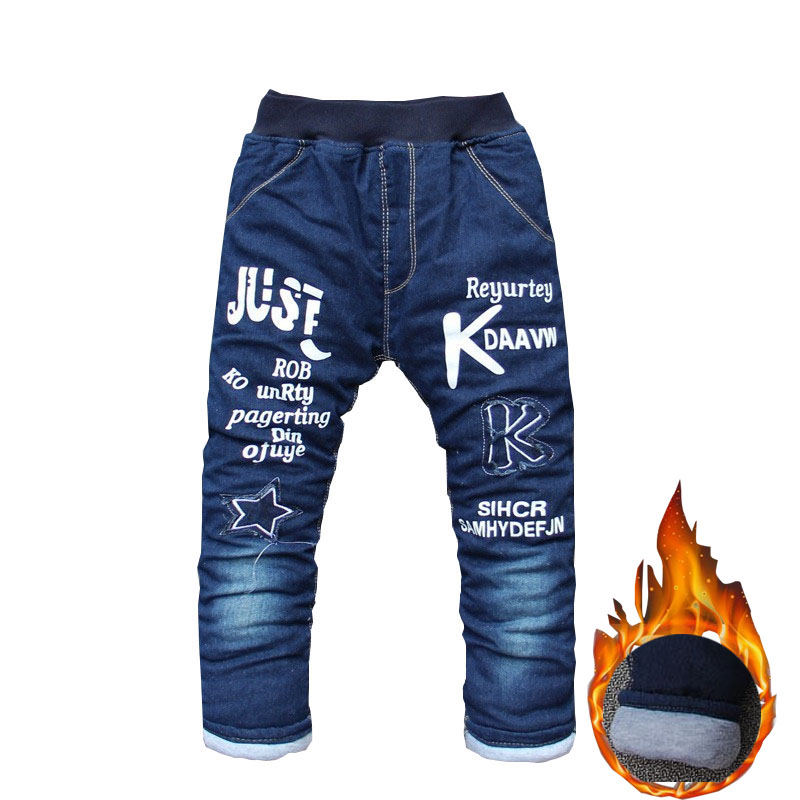 BibiCola Boys Pants Long Trousers For Boys Thick Warm Winter Spring Jeans Baby Boys Pants Winter Jeans