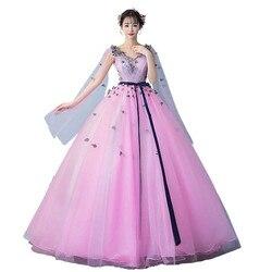 Vestidos Quinceanera Bola Vestidos Vestidos de 15 Anos Vestidos Quinceanera New Apliques vestido de Baile para a Festa Com Decote Em V Vestido 0023