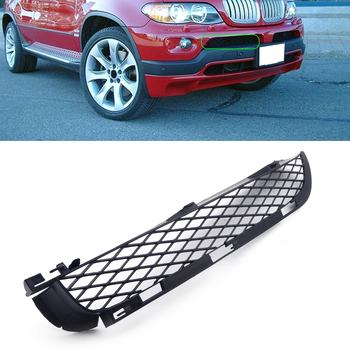 Right Black Front Grilles Upper Bumper Mesh Grill Grille Trim fit for BMW X5 E53 2004 2005 2006 image
