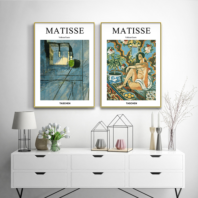 Canvas Painting Pictures Poster Prints Wall-Art Abstract Living-Room Fashion-Design Matisse
