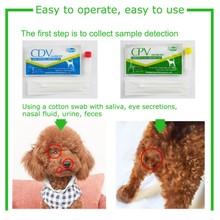 Товары для собак собачья собака дистемпер вируса Cdv/cpv домашний носовой тампон тест на здоровье бумажный наполнитель забота о здоровье собачий дистемпер тест комплект