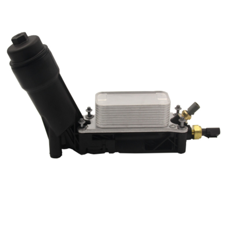 New OEM Oil Filter For 11-13 JEEP Dodge Chrysler 3.6L V6 Engine Oil Cooler Filter Housing Assembly With Two Sensors <font><b>5184294AE</b></font> image