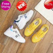 Купить с кэшбэком New Mesh Women Casual Shoes Comfortable Platform Shoes Woman Sneakers Ladies Trainers  womens sneakers casual shoes m585