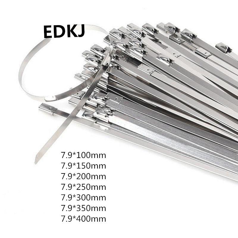 "10PCS 12/"" Black Locking Stainless Steel Zip Ties Exhaust Wrap Self Locking Cable"