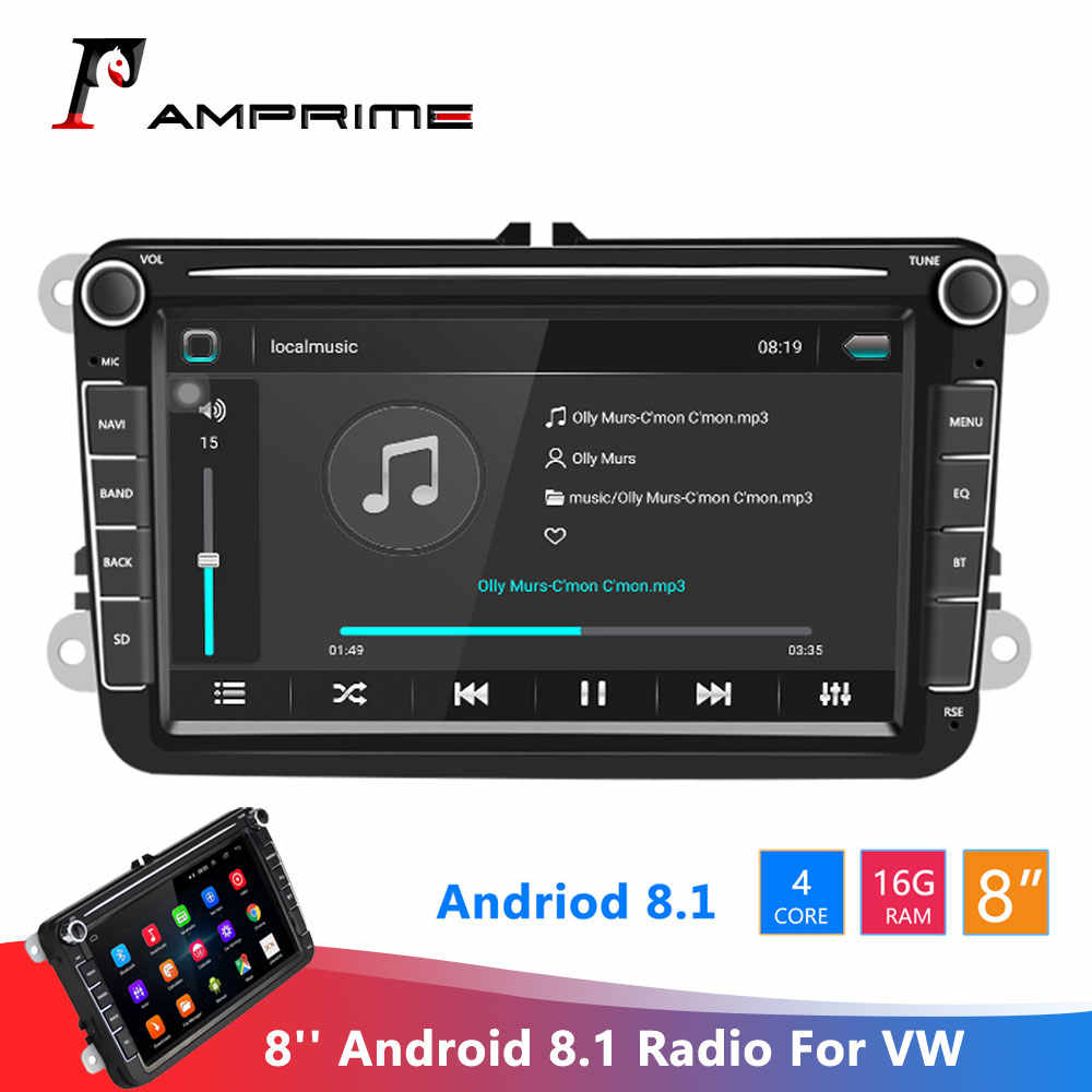 Amprime Android 8.1 Autoradio 2 Din Gps Car Stereo Radio 8 ''Auto Multimedia Player Wifi MP5 Fm Radio autoradio Stereo Voor Vw