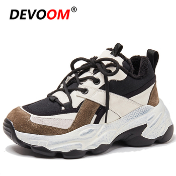 Winter Running Shoes For Women Jogging Sneakers Women Plus Fur Daddy Sport Shoes Woman Walking Athletic Fitness Shoes Triple s
