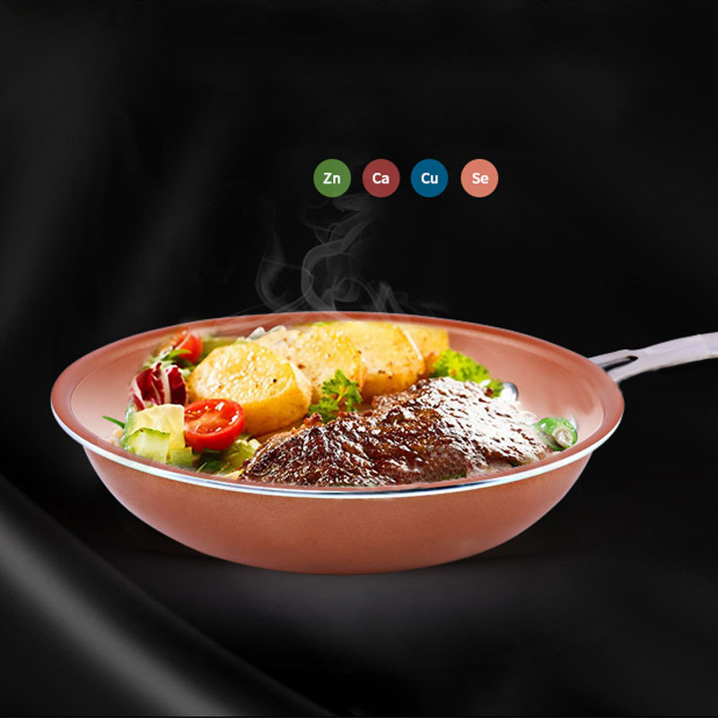9.4 Inch Non-stick Frying Pan Copper Style Aluminium Alloy Pans Dishwasher Oven Safe Cookware PAK55