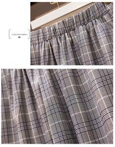 Image 5 -  2 Pieces Set Coat and Skirt Women Sets Plaid Skirt Suits Two piece Suit Casual Business Blazer Ladies Plus Size XL 5XL