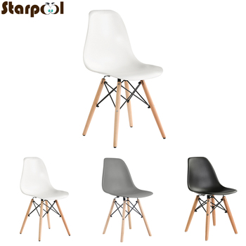 A set of four Nordic medieval retro style dining chairs, solid wood feet, beech wood, suitable for kitchen, dinings room недорого