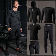 Men's Running Sets Compression Jogging Sport Suits Gym Fitness Sports Clothing Suit Training Tights Sportswear for Men Dry Fit sport suit women fitness clothing running sets polyester breathable ladys sportswear zip pocket training jogging sportsuit