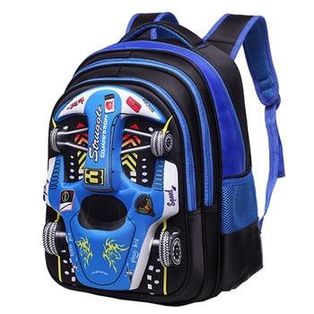 Fashion 3D Car Elementary School Bag 1-4-6 Grade Boys Girls Backpacks Breathable Wear-resistant Offload Children's School Bags 1