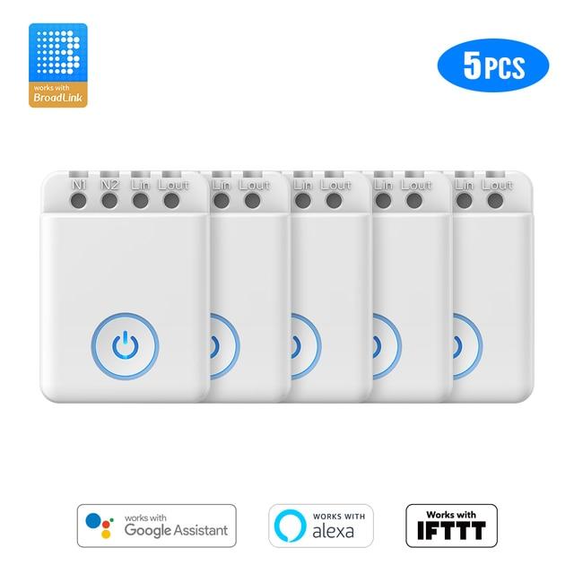 1/2/3/4/5 PCS BroadLink BestCon MCB1 WiFi Smart Light Switch Wi Fi Modules Box works with Alexa and Google Home IFTTT