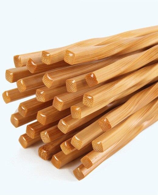 Фото 5 пар ручных палочек для еды из натурального бамбука здоровые цена