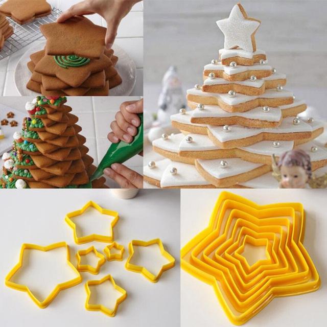Star 3D Christmas Tree Cookie Cutter Set