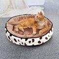 Мягкая Плюшевая кровать для сна, домик для маленьких и средних кошек, Лежанка для собак и кошек, зимняя теплая подушка для щенков