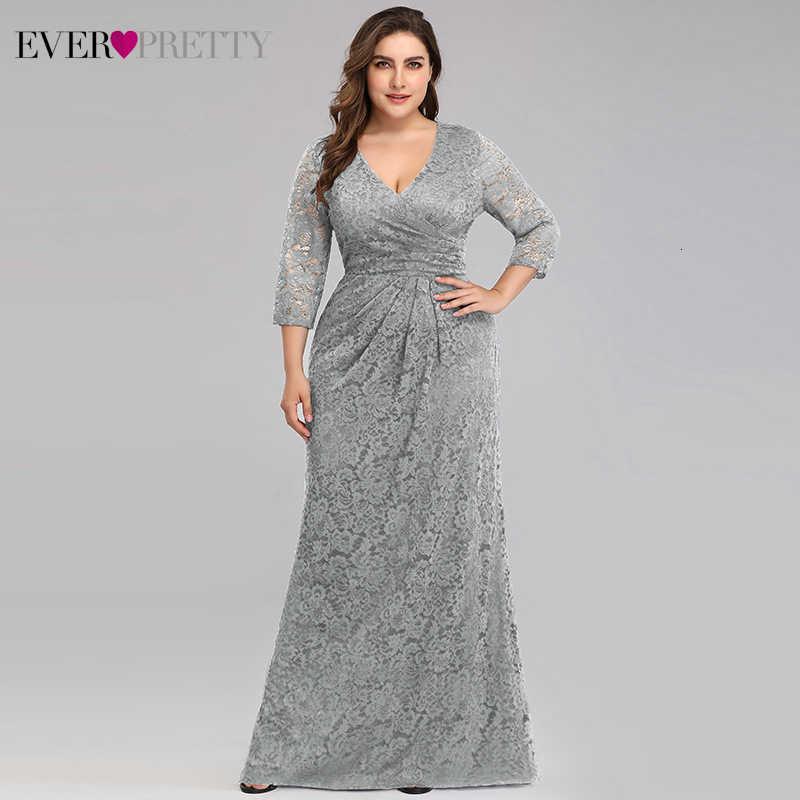 Vestidos De encaje De talla grande Madre De la novia vestidos siempre bonitos sirena manga 3/4 elegantes azul marino vestidos De madre Vestido De madinha