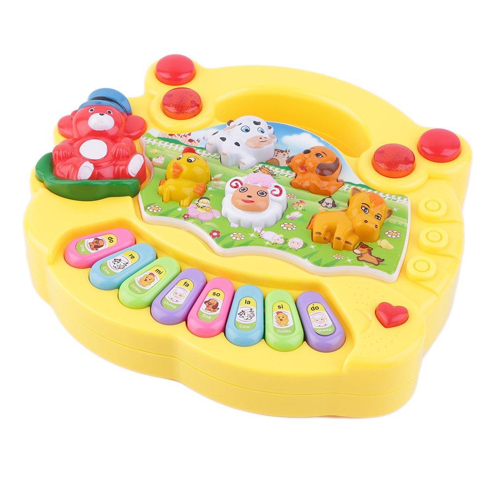 Kids Electronic Organ Musical Educational Piano Animal Farm Developmental Music Piano Toy Gift For Baby Child Birthday drop ship