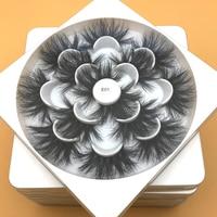 Mikiwi 25mm Mink False Eyelashes 10/20/30/50/100 pc Wholesale 3D Mink Lashes Label Makeup Dramatic Long Mink Lashes