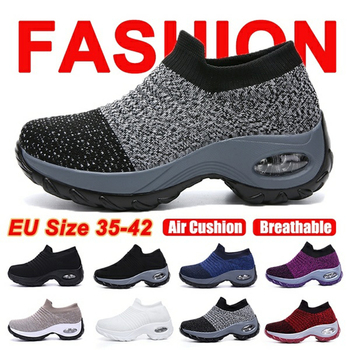Fashion Women Lightweight Sneakers Running Shoes Outdoor Sports Shoes Breathable Mesh Comfort Running Shoes Air Cushion Lace Up