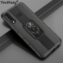 For Samsung Galaxy M30 Case TPU+PC Phone Finger Holder Bumper Cover Youthsay