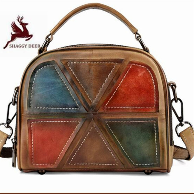 Women Handbags Messenger-Bags England-Style Personality Fashion Mixed-Color