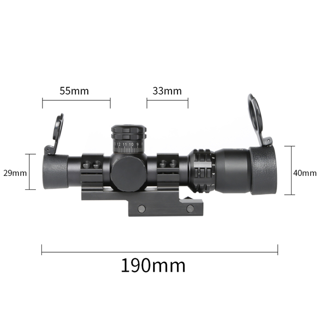 Tactical Riflescope Spotting Scope for Rifle Hunting Optical Collimator Short Airsoft Sight Red Green Reticle MARCH 2-8X20IR 4
