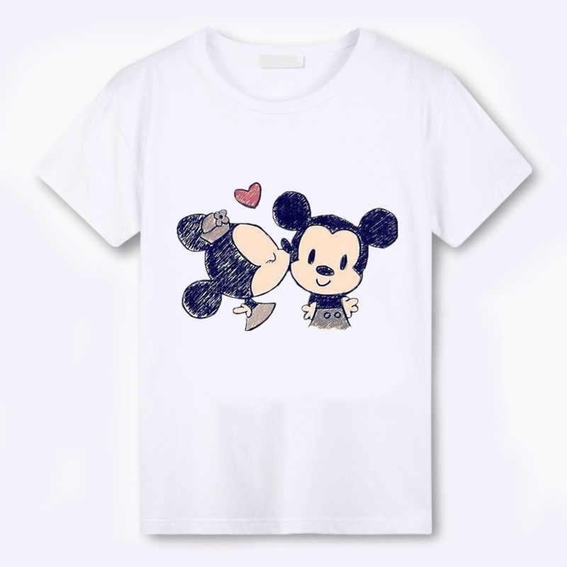 Camiseta de verão de mickey mouse batimento cardíaco kawaii S-3XL camiseta de verão de mickey tshirt