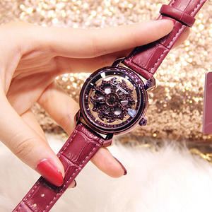 Diamond Watches Magnetic Luxury Buckle Mesh-Band Quartz Rose-Gold Women Starry