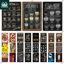 Coffee Sign Vintage Metal Sign Plaque Metal Vintage Wall Decor for Kitchen Coffee Bar Cafe Retro Tin Sign Metal Posters
